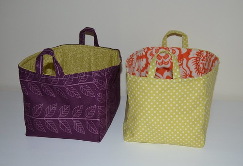 More fabric buckets for a friend
