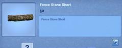Fence Stone Short