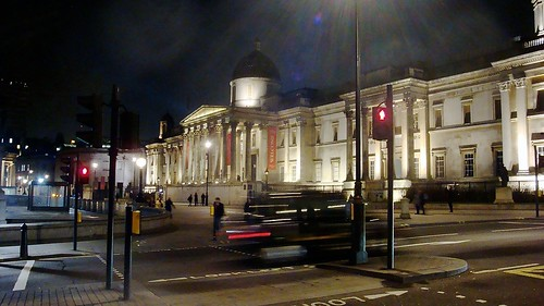 National gallery at night width=