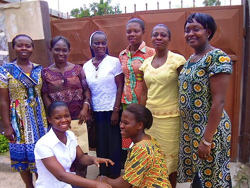 The temporary professed Sisters of St Louis in Oku, Ghana, with their directress Brigid Nancy Andoh SSL