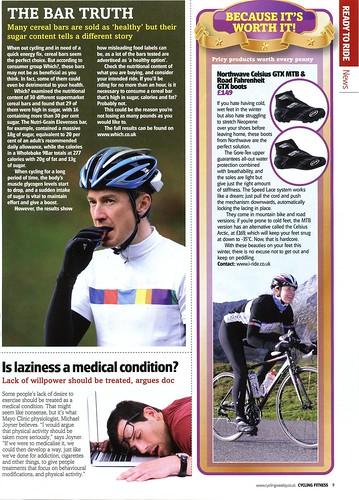 Shutt in Cycling Fitness magazine