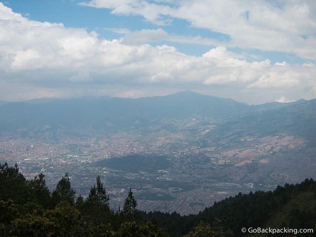 Looking west across Medellin from Parque Arvi