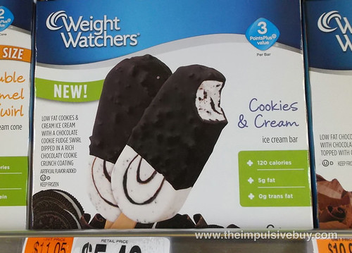 Weight Watchers Cookies & Cream Ice Cream Bar
