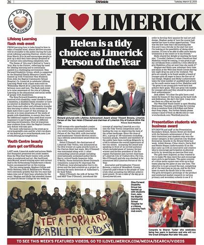 Limerick Chronicle Column 12 Mar 2013