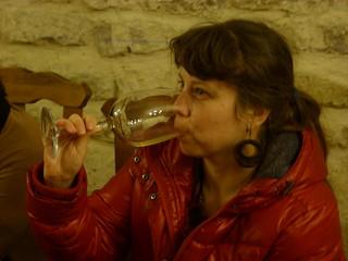 Catando vinos en Bodegas Alfredo Santamaría (Valladolid)