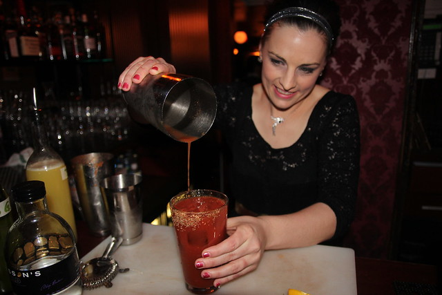 Cole's Brent Falco and her Perfect Bloody Mary cocktail recipe by Caroline on Crack