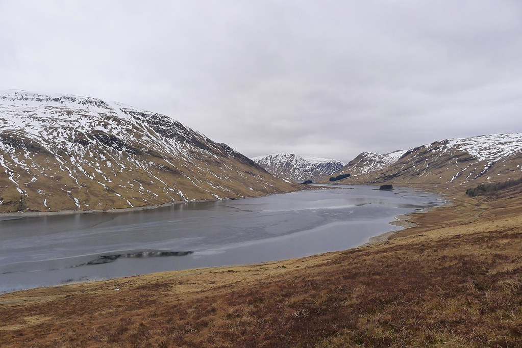 Loch an Daimh from Meall Buidhe descent