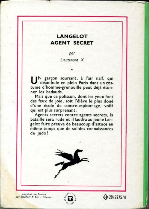 Langelot agent secret, by LIEUTENANT X