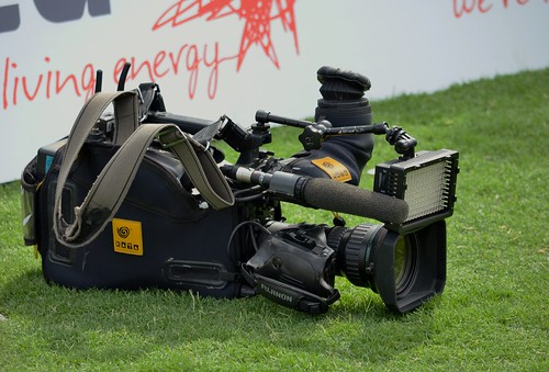 TV Camera on the grass
