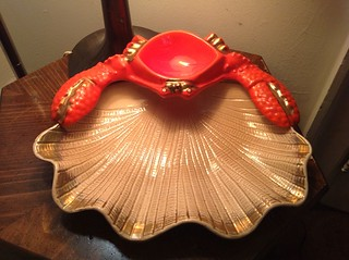 Vintage Crab Dip Serving Platter