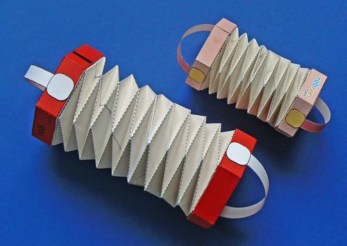 Squeeze box Concertina, Paper model