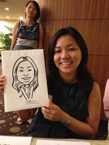 caricature live sketching for South West ComCare Local Network Anniversary Dinner cum ComCare Awards 2013 - n