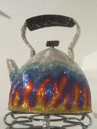 Tea Kettle: Swarovski Crystals