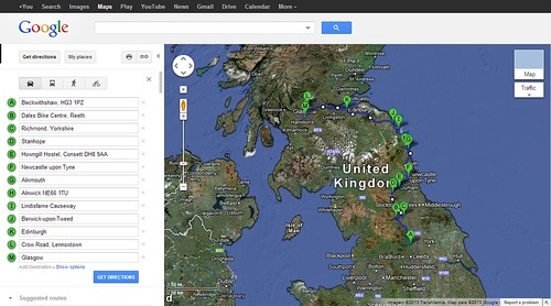 To Scotland via Google 2013