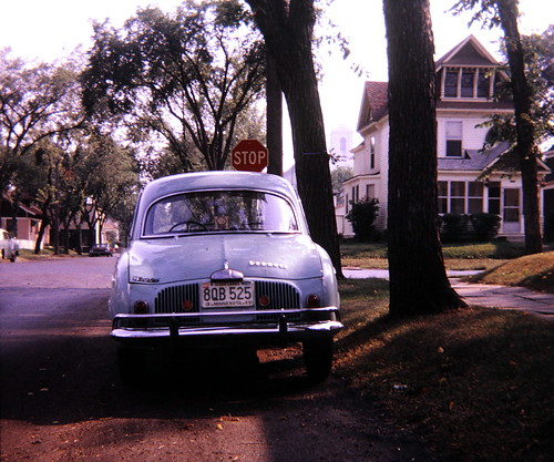 Cars I Have Owned: 1964 Renault Dauphine photographed in 1966 in St. Paul, Minnesota (