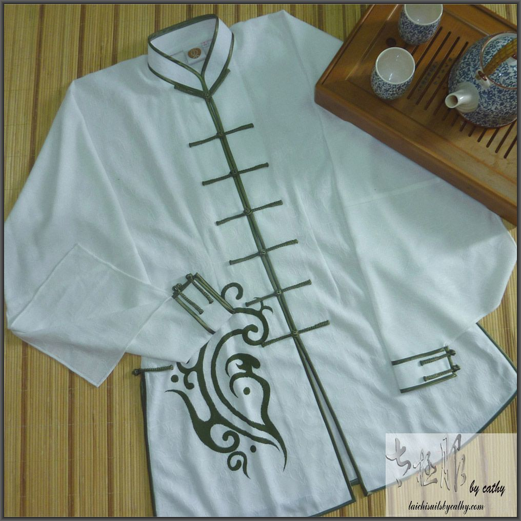 11006-1 custom made in Taiwan cotton Tai Chi suit for Shanghai World Expo Tai Chi performance wear