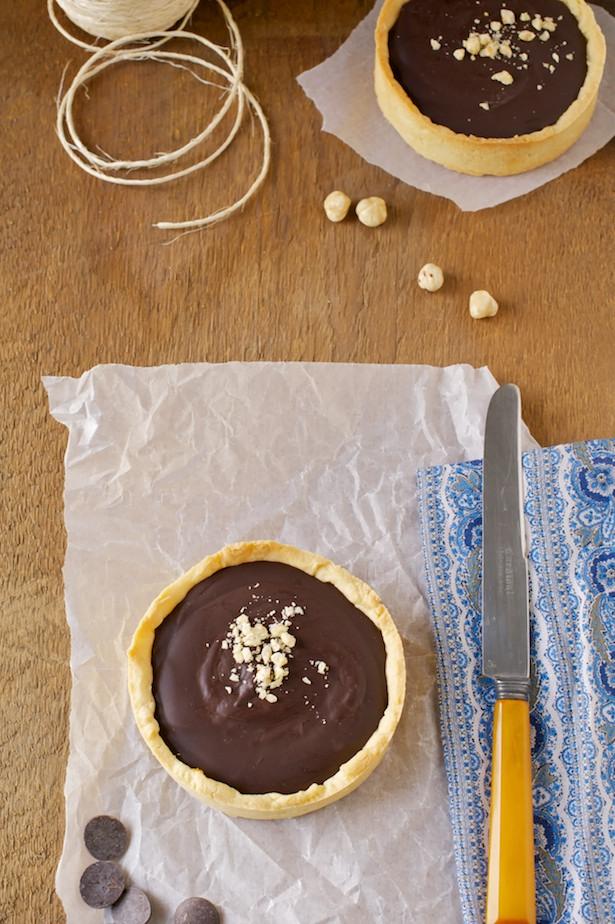 chocolate tart overhead