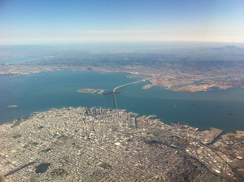 San Francisco during the descent to SFO