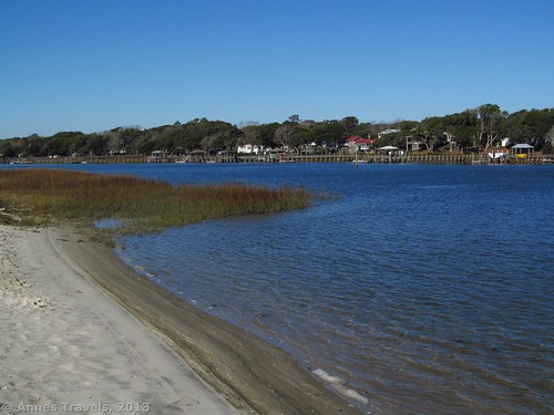 The Intercoastal Waterway from Sanddollar Park, Holden Beach, North Carolina