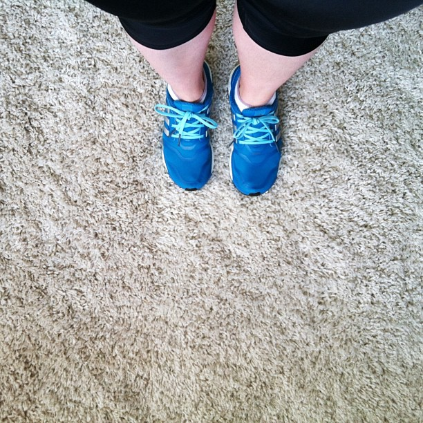 My white legs and I are headed out for some vitamin D and exercise. I probably should wait a few more days since I just got over my cold, but its not gonna stop me! New shoes too! Adidas Energy Boost! #fitness #fat2fitwithjoni #adidas #running #runningsho