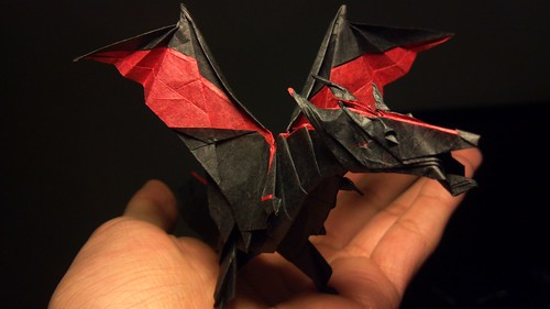 Fiery Dragon- Kade Chan | Folded with 30cm square golden tis… | Flickr | 281x500