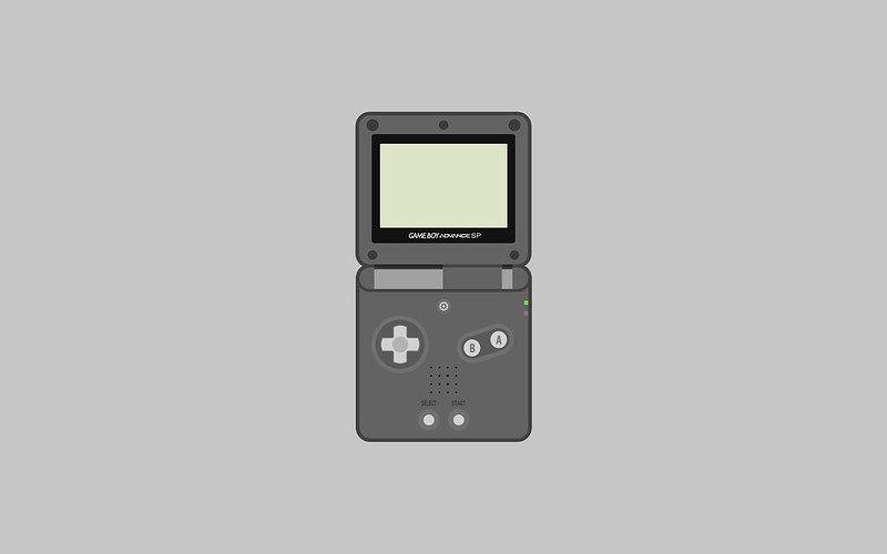Nintendo Game Boy Advance SP wallpaper - dark grey