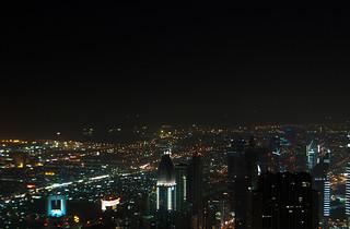 Vue sur Dubaï de nuit