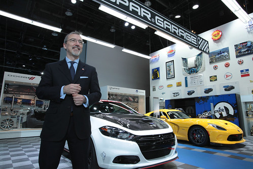 Pietro Gorlier, President and CEO of Mopar, revealed the Mopar Garage display at NAIAS where more than 300 Mopar performance parts and accessories are being shown.