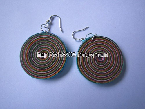 Handmade Jewelry - Paper Quilling Disk Earrings (Multicolor) (1) by fah2305