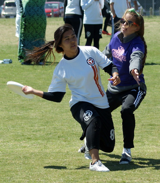 Ultimate Frisbee Women's College Centex Div. III 3-23-13