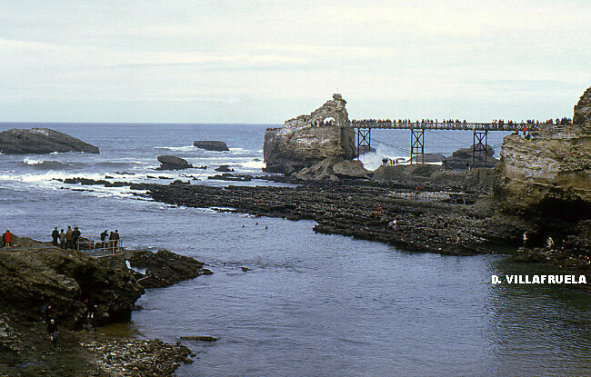 marée du Siècle au Rocher de la Vierge à Biarritz, le 27 mars 1967 météopassion