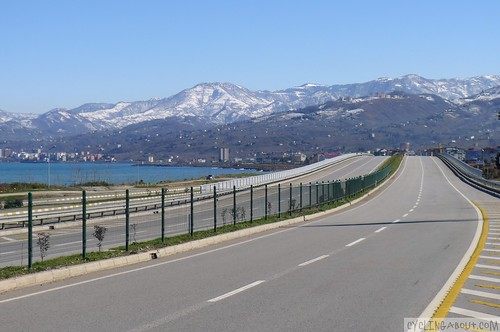 Black Sea Highway in Turkey