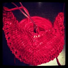 art, textile, red, crochet,