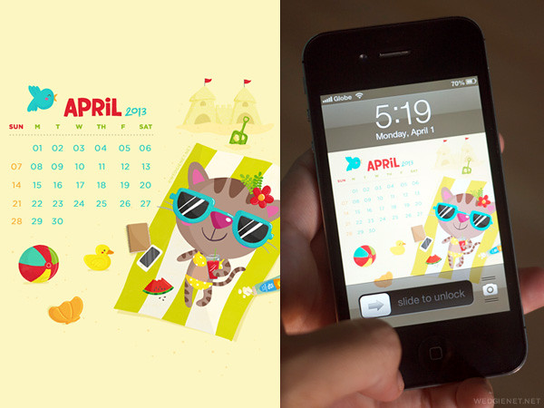 April 2013 free wallpaper download for desktops/iPhone/Samsung Galaxy SIII