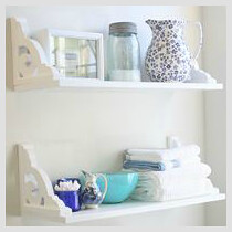 cottage style bathroom shelves