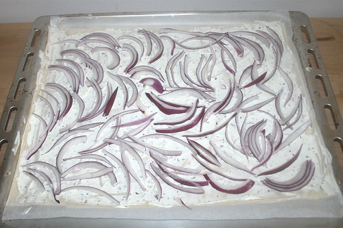 10 - Mit Zwiebeln belegen / Cover with onions