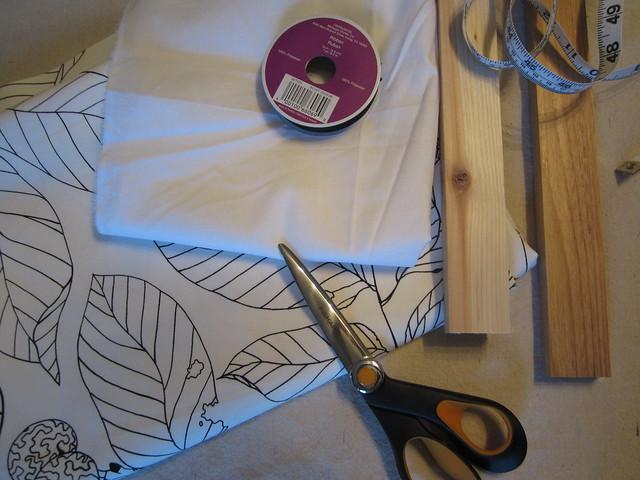 How To Sew A Roman Shade Easy Roman Shade Fake Roman