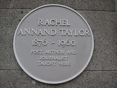 Photo of Rachel Annand Taylor yellow plaque