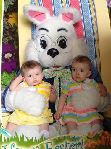 First visit with the Easter Bunny