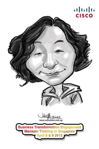 digital caricature for Cisco - 3