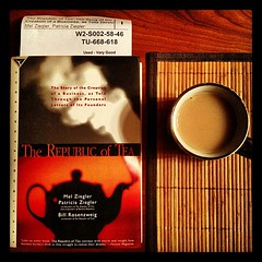 The Republic of Tea book & a cup of Assam Golden black tea. #teaftw
