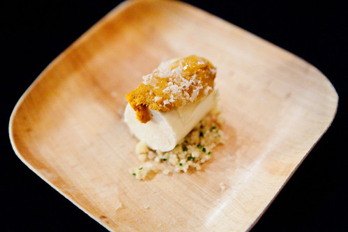 Diver Scallop, Celery Root, Black Truffle, and Bone Marrow by PJ Calapa of Ai Fiori