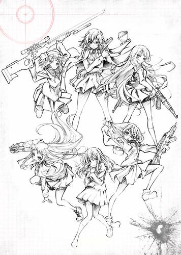 130412(1) - 高中美少女的生存遊戲《ステラ女学院高等科C3部》將在夏天播出電視動畫,製作群&海報出爐! 1