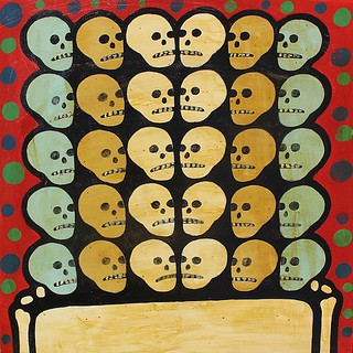 """Color coding our skulls"" currently available through Anno Domini http://www.galleryad.com/"
