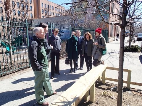 U.S. Forest Service Chief Tom Tidwell tours New York City with agency employees and representatives from the New York City Department of Park and Recreation. The Forest Service has placed a renewed emphasis on the health of America's 100 million acres of urban forests. (U.S. Forest Service photo)
