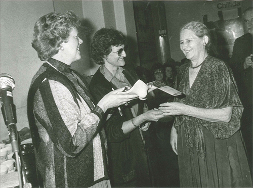 Solveig Nellinge left with Doris Lessing right