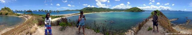 Rock formation at Nacpan and Calitang Twin Beach in El Nido, Palawan