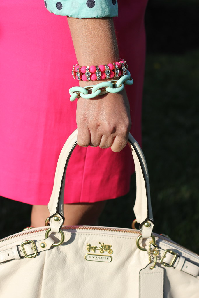 mint and pink jewelry