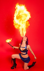 NYC fire breathing fire breather fire performer new york fire dancer