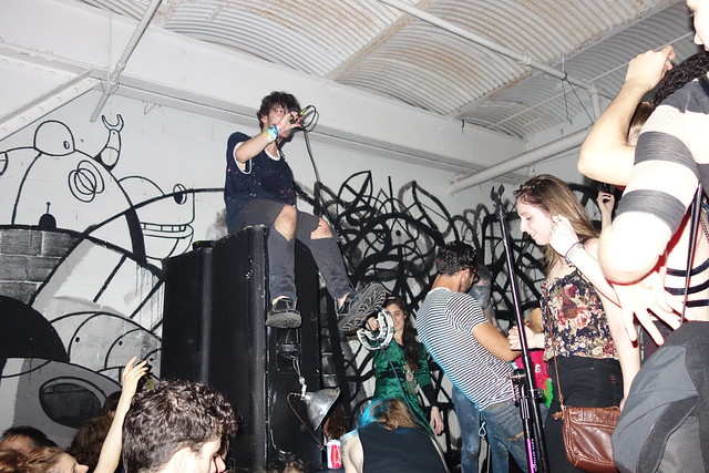 Doldrums onstage at 285 Kent - April 2013